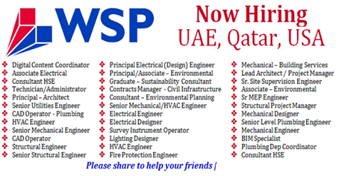 Jobs at wsp Global