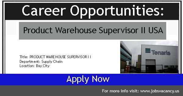 Warehouse Supervisor Vacancies
