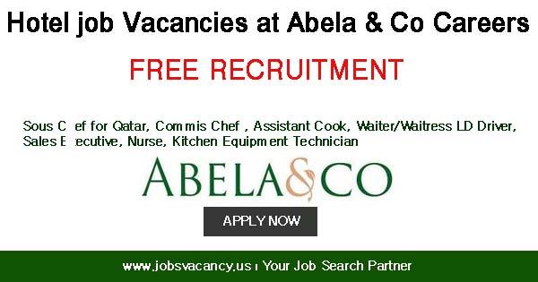 Hotel job Vacancies at Abela and Co